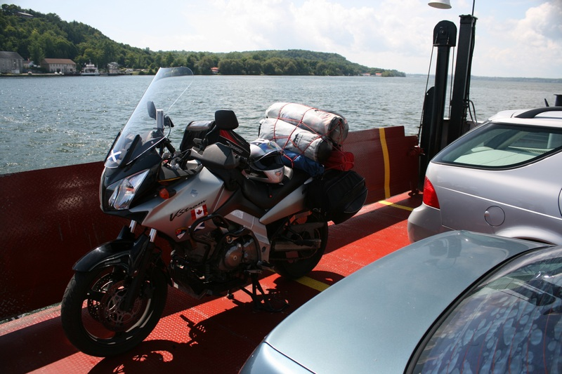 The bike on it's way to Cape Breton through the Loyalist settled area of Prince Edward County.  I was on this trip too, honest.