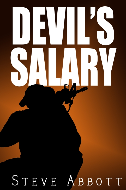 Initial Layout for Devil's Salary Cover - All images enclosed are the direct property of Sabot Productions Inc.
